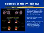 sources of the p1 and n2