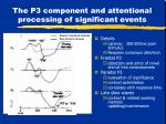 the p3 component and attentional processing of significant events