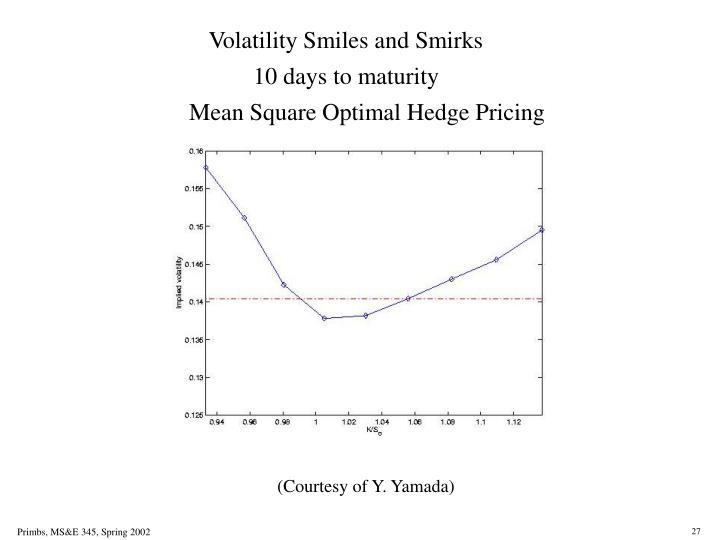 Volatility Smiles and Smirks