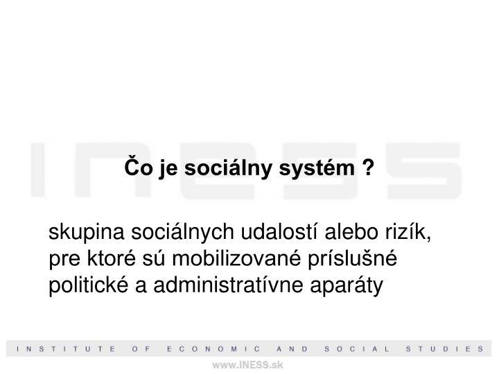 Čo je sociálny systém