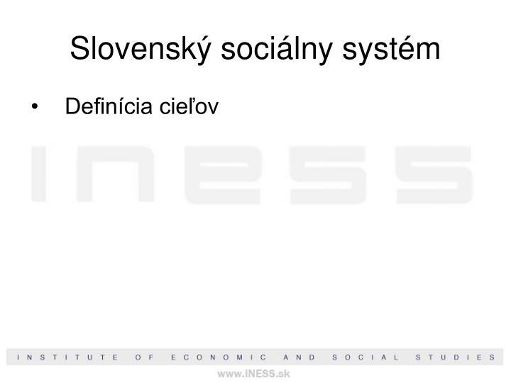 Slovenský sociálny systém