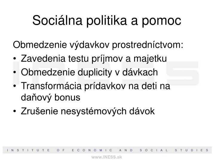 Sociálna politika a pomoc