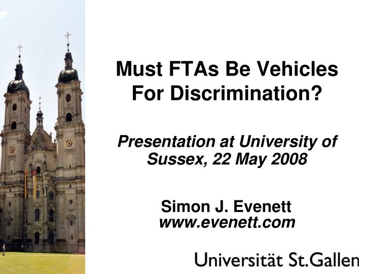 must ftas be vehicles for discrimination