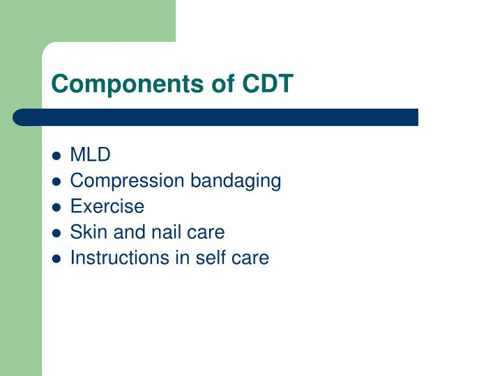 Components of CDT