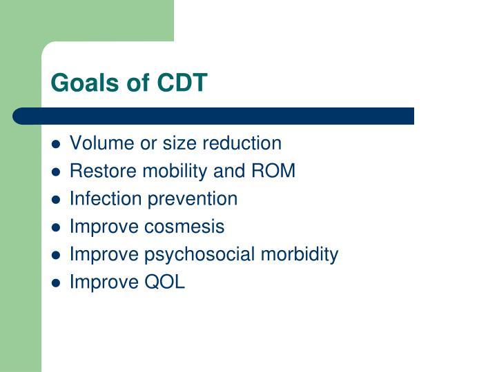 Goals of CDT