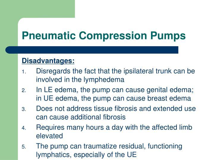 Pneumatic Compression Pumps
