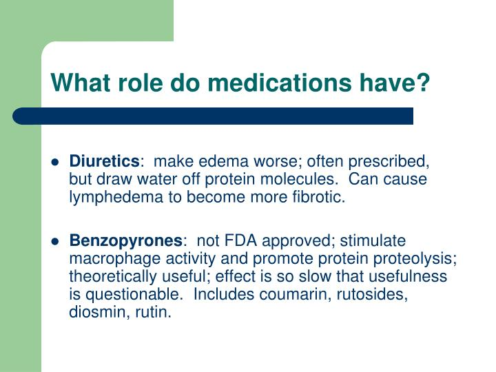 What role do medications have?