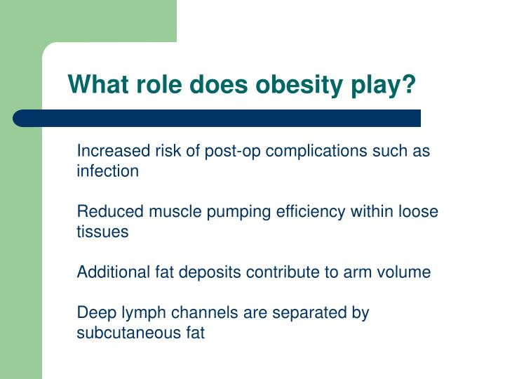 What role does obesity play?