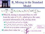 b s mixing in the standard model