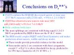 conclusions on d s s