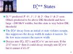 d s states
