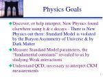 physics goals