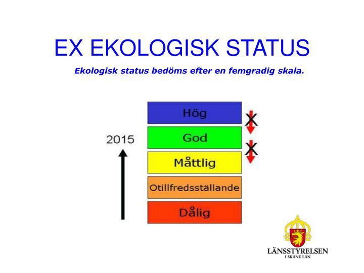 EX EKOLOGISK STATUS