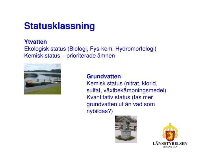 Statusklassning