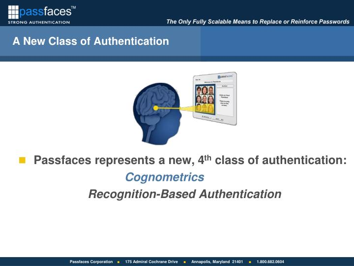 A New Class of Authentication