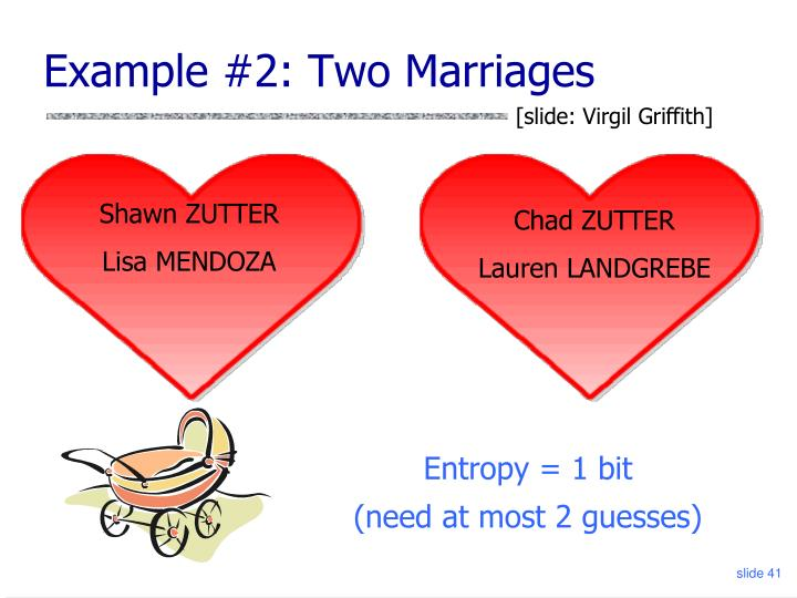 Example #2: Two Marriages