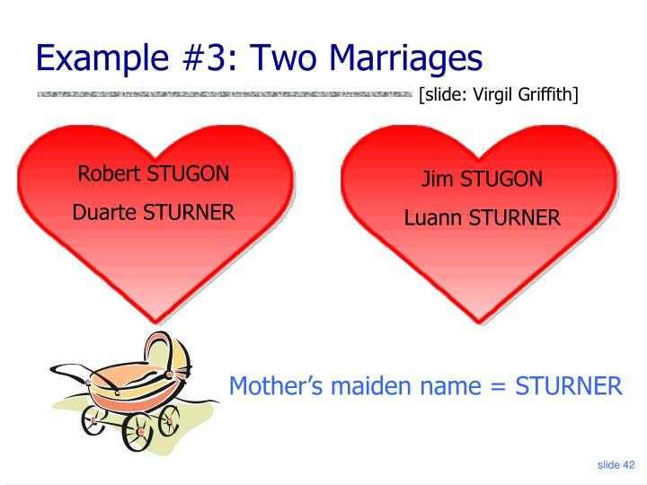 Example #3: Two Marriages