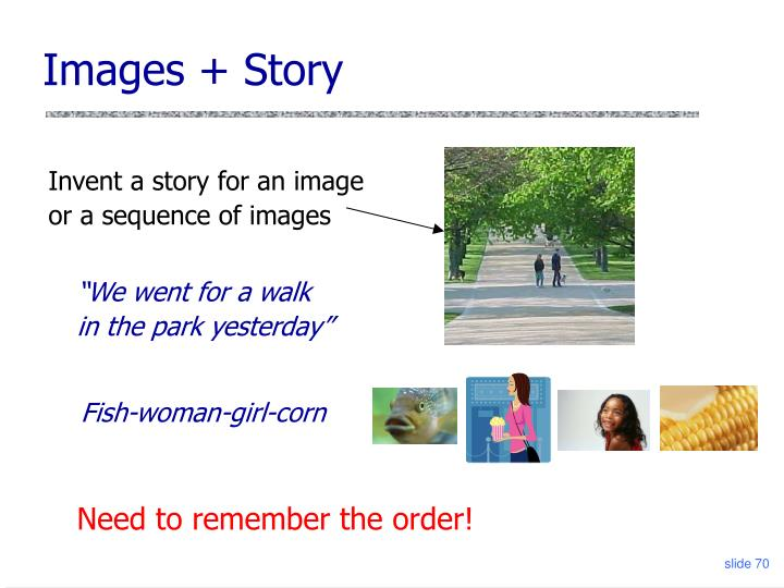 Images + Story