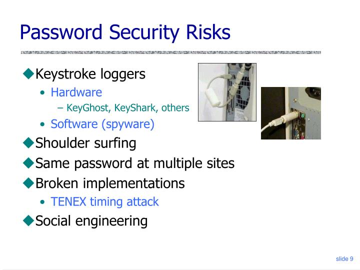Password Security Risks