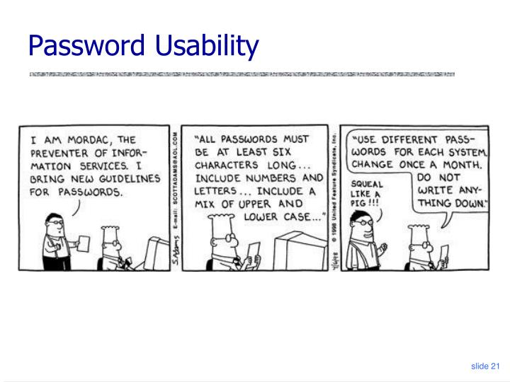 Password Usability