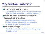 why graphical passwords
