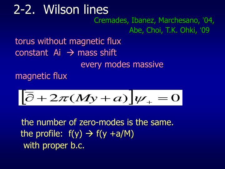 2-2.  Wilson lines