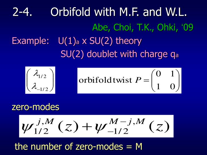2-4.     Orbifold with M.F. and W.L.