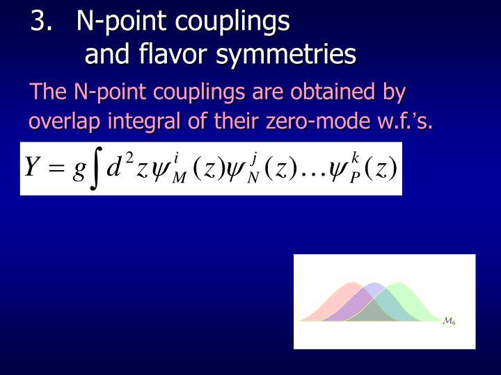 N-point couplings