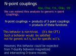 n point couplings