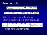 selection rule