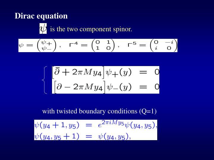 Dirac equation