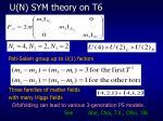 u n sym theory on t6