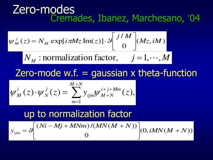 Zero-modes