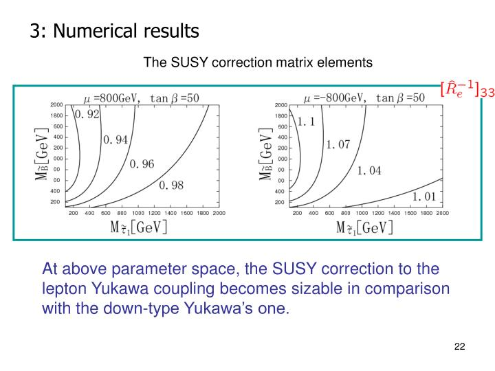 3: Numerical results