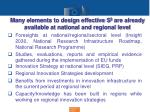 many elements to design effective s 3 are already available at national and regional level1