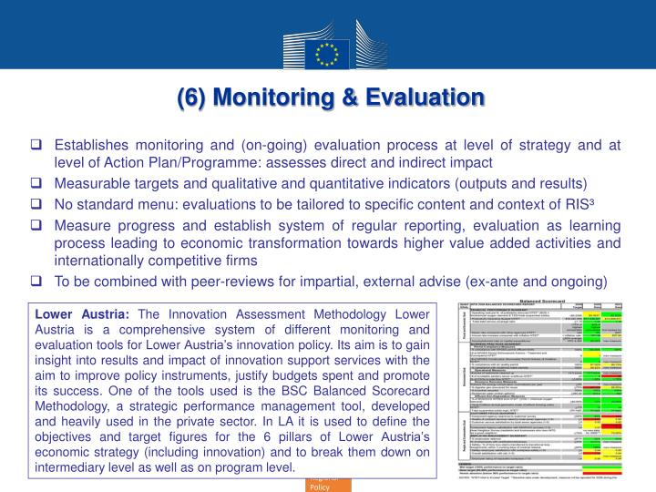 (6) Monitoring & Evaluation
