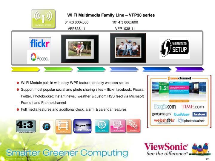 Wi Fi Multimedia Family Line – VFP38 series