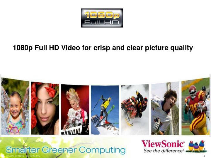 1080p Full HD Video for crisp and clear picture quality