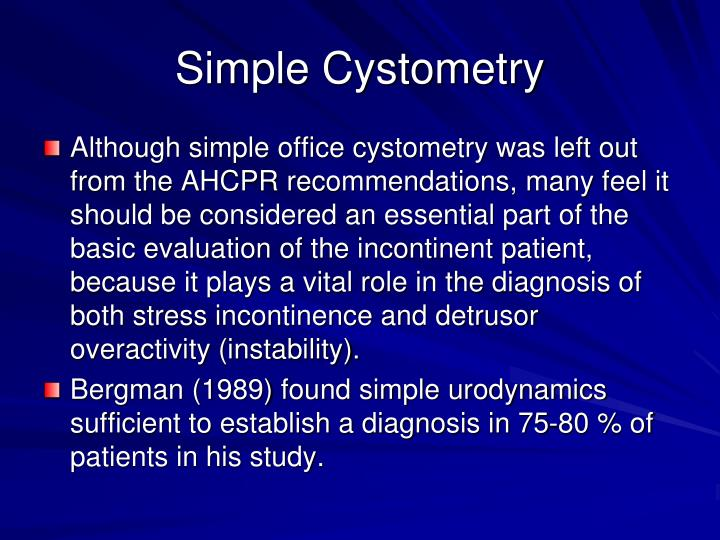 Simple Cystometry