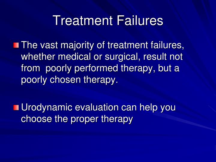 Treatment Failures