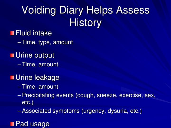 Voiding Diary Helps Assess History