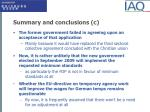summary and conclusions c