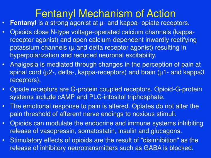 Fentanyl Mechanism of Action