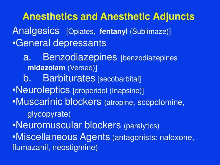Anesthetics and