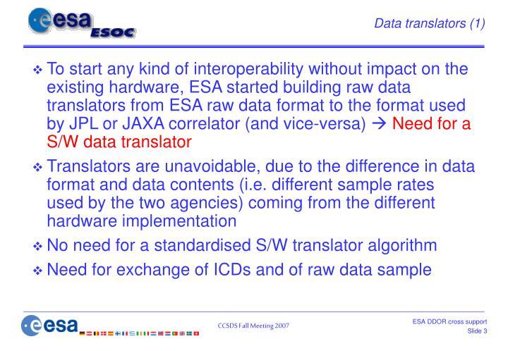 Data translators (1)