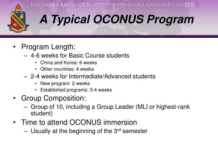 A Typical OCONUS Program