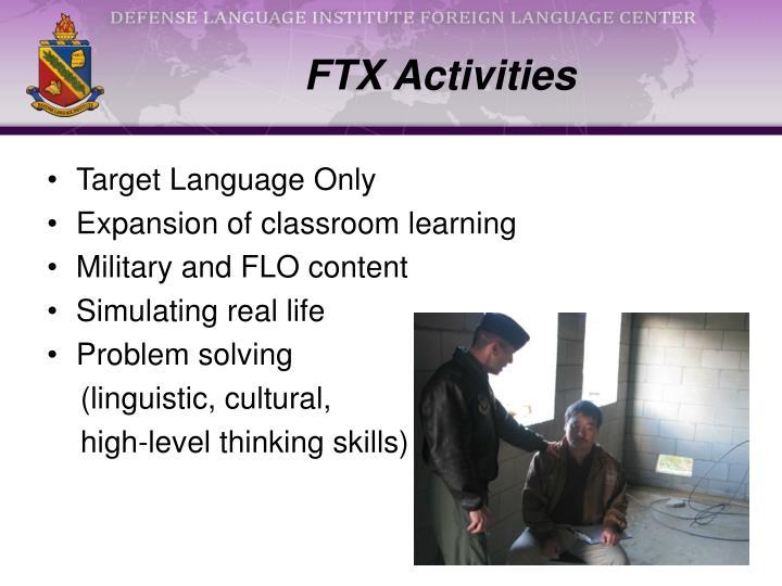 FTX Activities