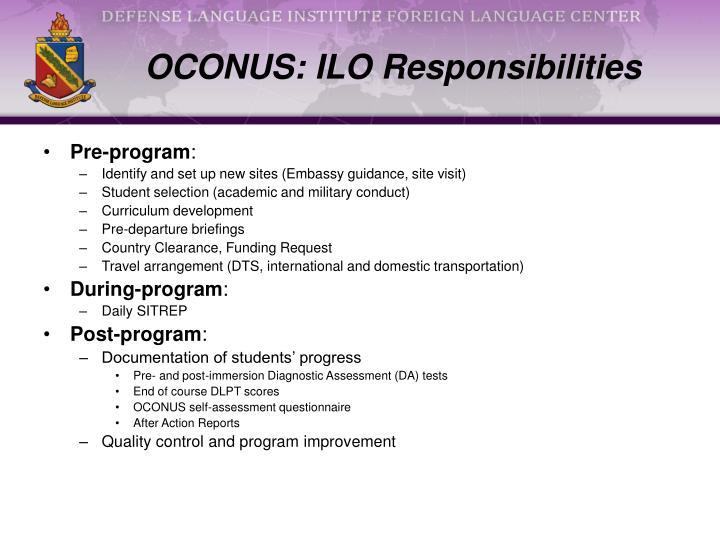 OCONUS: ILO Responsibilities