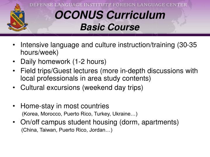 OCONUS Curriculum