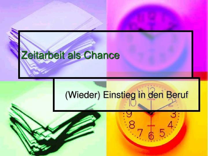 Zeitarbeit als Chance